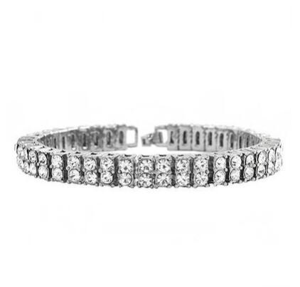 Dropwow 8mm Jewelry Gifts Bling Iced Out 2 Row AAA Rhinestone ... 40b0b80b1bfb