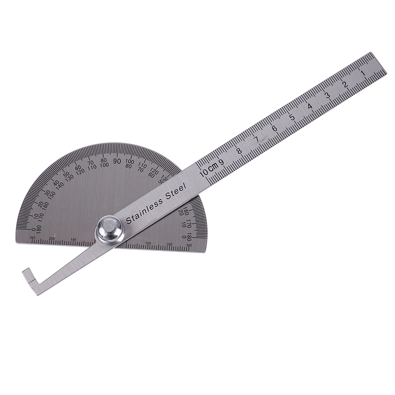 1pc Stainless Steel Round Head 180 degree Protractor Angle Finder Rotary Measuring Ruler Machinist Tool Craftsman Digital Ruler