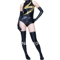 Classic Ms Marvel Costume one piece custom made Ms Marvel Costume supehero costume for halloween party