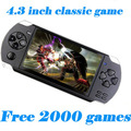 Free Shipping 4GB/ 8GB Video Game Console 4.3 inch MP4 MP5 Players Handheld Game Player free 2000+games ebook/FM/1.3 MP Camera