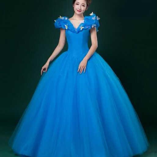 c82cc8ddc9 New Women Adult Custom Made Cinderella Quinceanera Dresses Communion Prom  Bridal Princess Cinderella Party Dress