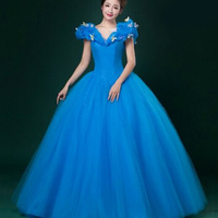 New 2015 Women Adult Custom Made Cinderella Quinceanera Dresses Communion Prom Bridal Princess Cinderella Party Dress