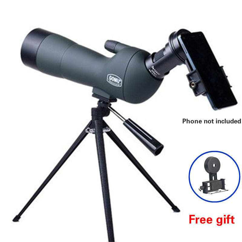 20-60x60 Zoom Monocular Professional Astronomical Telescope Mirror Binoculars Spotting Scopes Birdwatching With Tripod Adapter original russian binoculars high times 8 24x40 zoom monocular telescope astronomical telescope with leather bag