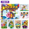 Детские Игрушки Наклейки Ноутбук DIY Липкой бумаги искусства живописи Рождественский Подарок для Детей