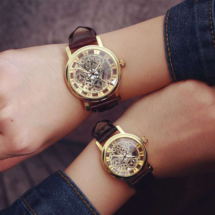 Fashion Transparent Hollow Quartz Wrist Watch Hot Roman