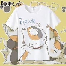 New Anime Natsume Yuujinchou Cotton T-shirts for Women/Men Student T Shirt O Neck Short Sleeve Summer Clothes Top Tees S-3XL anime fairy tail natsume yuujinchou monokuma dog shiba inu handbags oxford women men student shoulder messenger crossbody bag