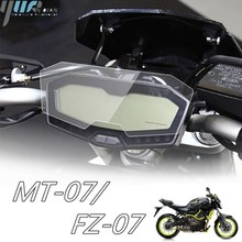 Motosiklet aksesuarları pano küme çizilmeye karşı korumalı ekran koruyucu film Yamaha MT 07 FZ 07 2014 2015 2016 2017