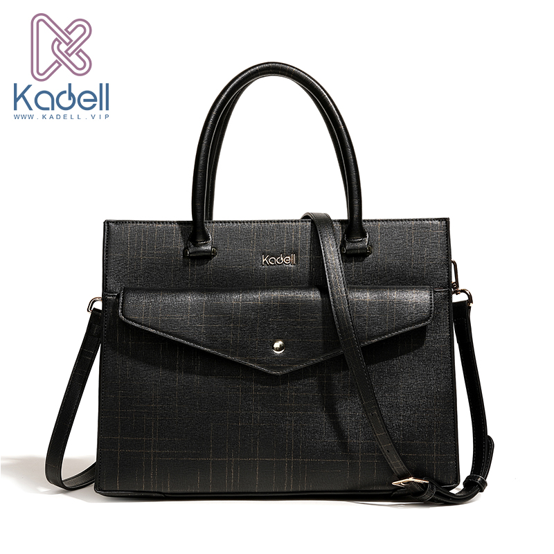 Kadell New Leather Luxury Handbags Women Bags Designer Casual Large Capacity Big Shoulder Flap Messenger Bags Business Briefcase kadell brand luxury women leather handbags bolsa feminina large capacity elegant ladies shoulder bag for business paty totes
