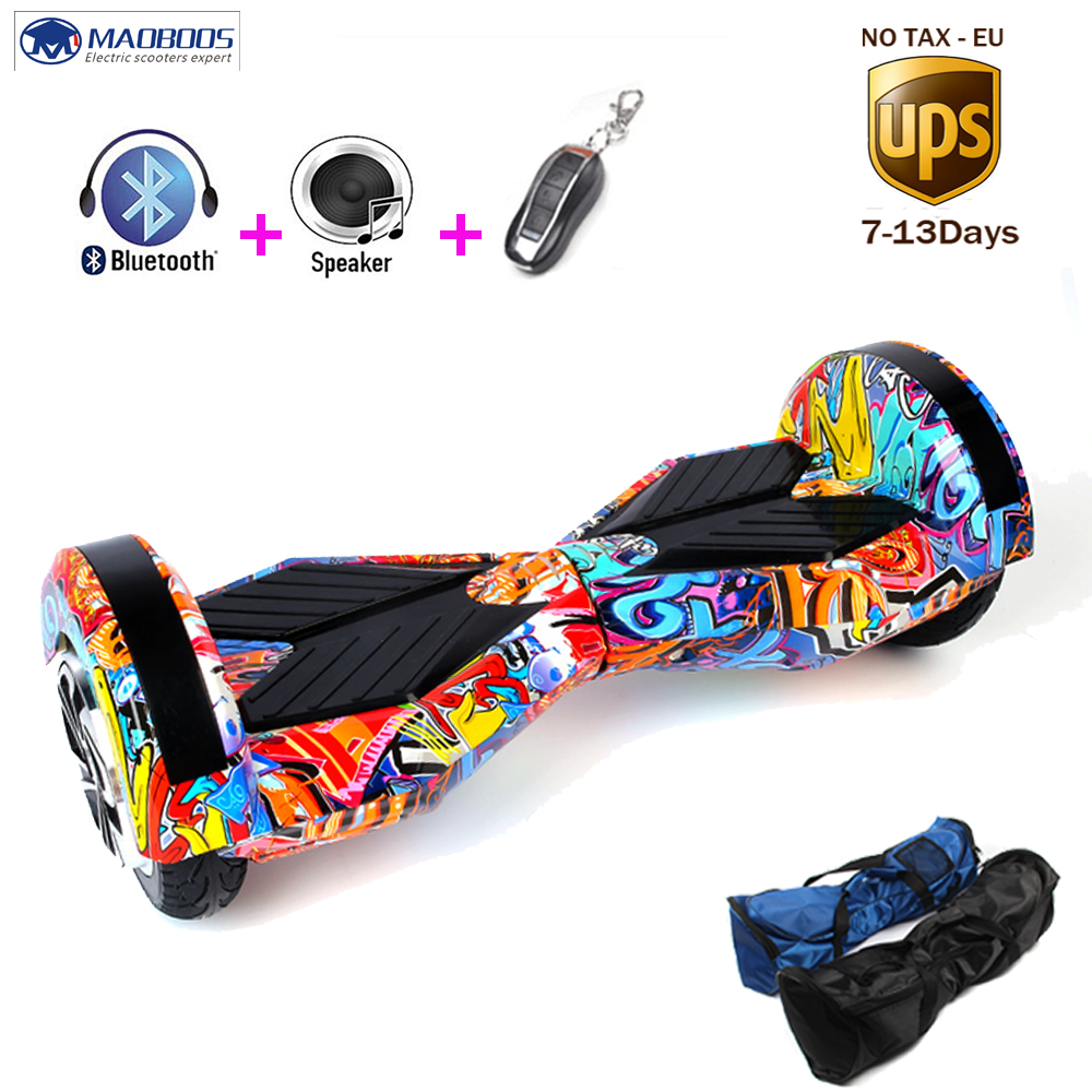 NoTax 8.0inch 2 Wheel Self Smart Balance Scooter Led light Electric Skateboard standing drift board Hoverboard with UL2272 samsung battery hoverboard 2 wheels smart self balance electric skateboard unicycle standing scooter ul2272 hover board
