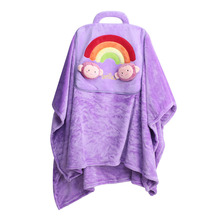 Baby Blanket Soft Flannel Cartoon Air Conditioning Swaddling Baby Soft Pillow Dual-use Children Adult  Pillow or Blanket