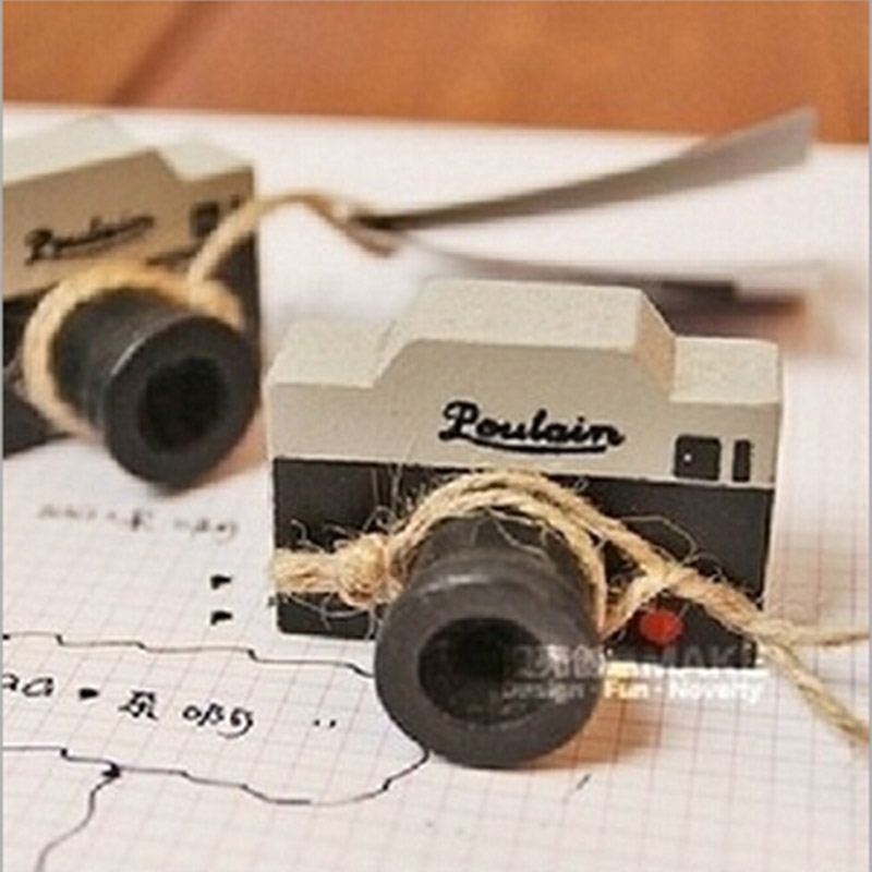 1 x vintage wooden camera stamp DIY decal for scrapbooking stamp zakka stationery office school supplies gift