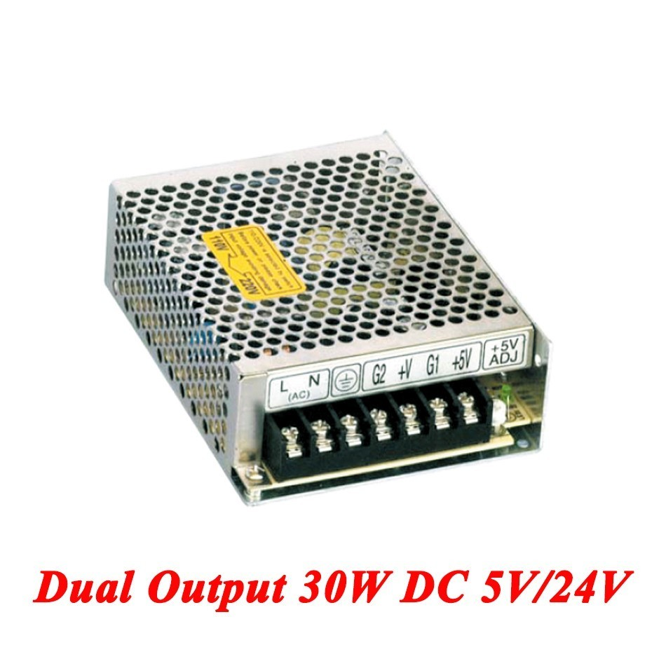 D-30B Double Output Switching Power Supply 30W 5V/24V,dc Power Supply For Led Driver,AC110V/220V Transformer To DC 5V/24V ac110 220v dc 24v 6 5a 150w double output switch power supply for led striplight xwj