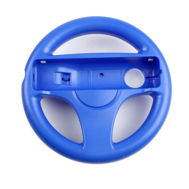 EastVita 5 Colors Plastic Innovative and ergonomlc design Game Racing Steering Wheel for Wii Kart Remote Controller
