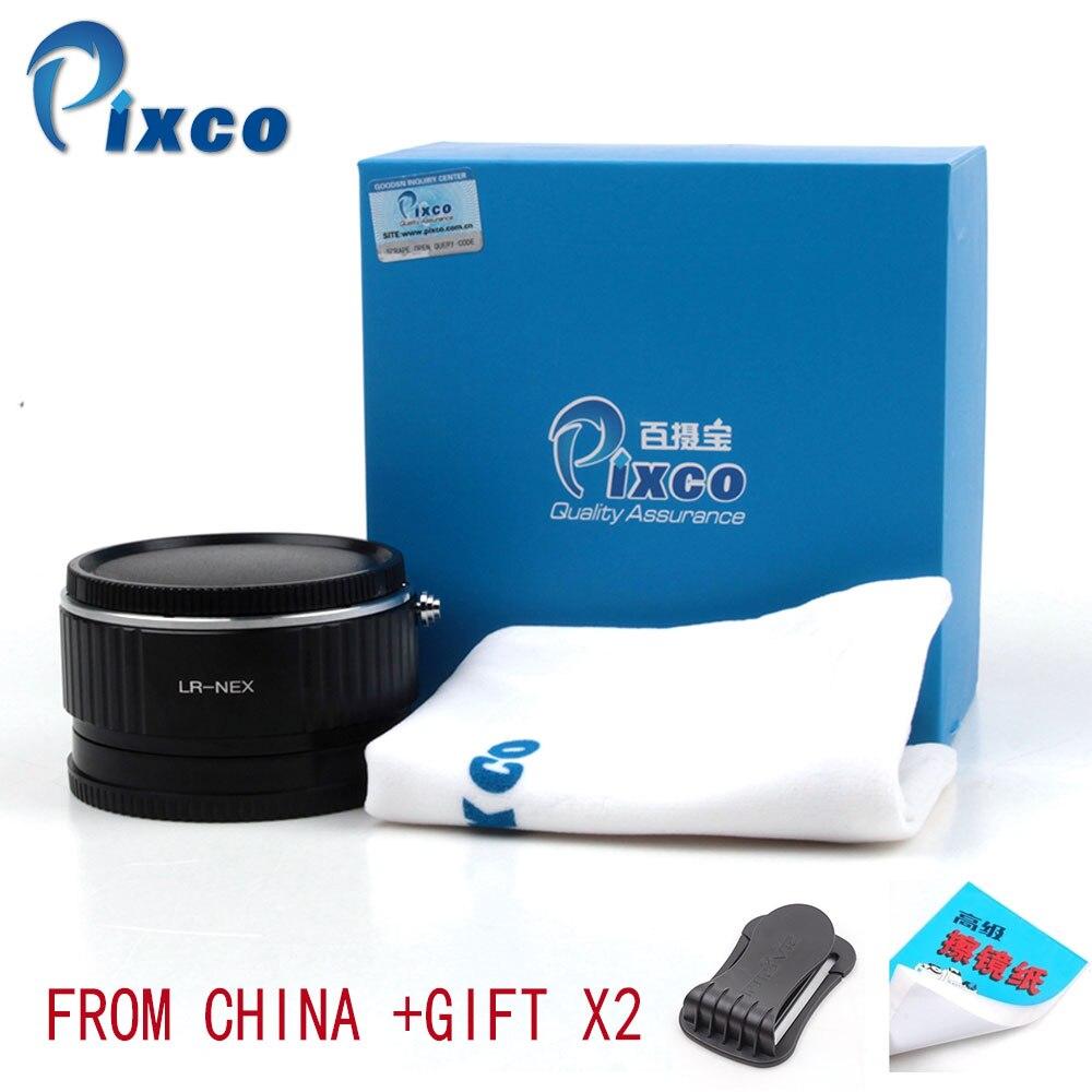 Pixco L/R-NEX réducteur de focale Booster de vitesse adaptateur de montage d'objectif pour lentille Leica R à Sony E NEX A6000 A5000 A3000