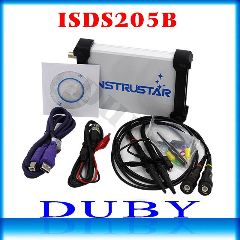 ISDS205B 5 в 1 Многофункциональный ПК на базе USB цифровой осциллограф/анализатор спектра/DDS/развертки/Data Регистраторы 20 м 48 мс/с