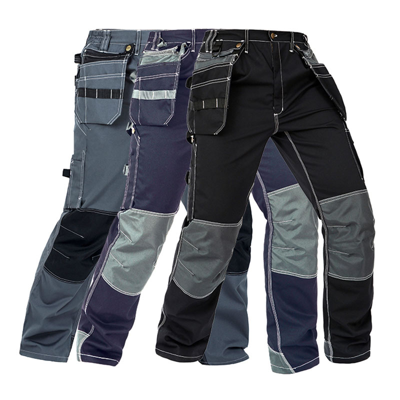 Image 5 - Men Working Pants Multi Functional Pockets Wear resistance Workwear trousers High quality Work Mechanic Repair Mens Cargo Pants-in Safety Clothing from Security & Protection
