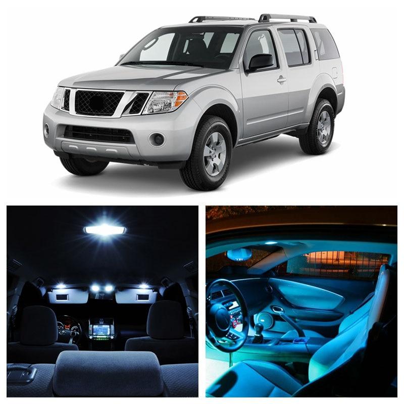 NEW 2018 Nissan Pathfinder 2005-2013 White LED Bulb Xenon Light Interior Kit R51