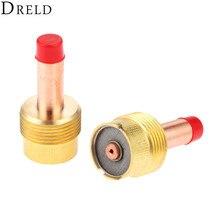 DRELD 2pcs 45V116 TIG Collets Body Large Diameter Gas Lens 1/16'' 1.6mm for TIG Welding Torch SR PTA DB WP 17/18/26 Series 2PK цена в Москве и Питере