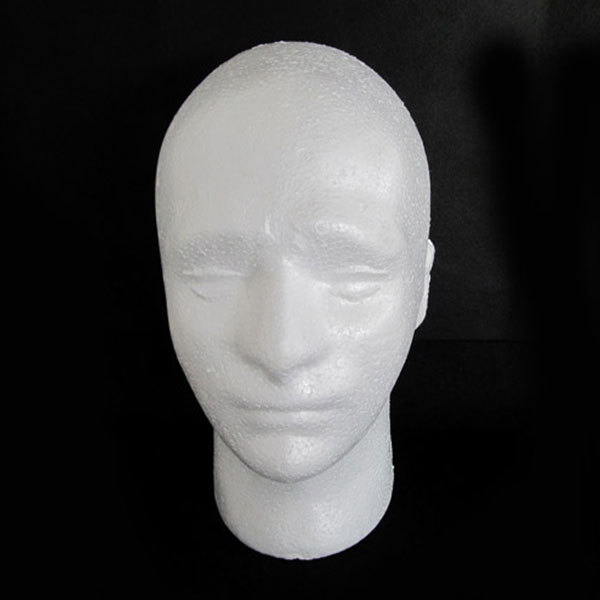 Male Hair Head Mannequin Training Stands Doll Foam Manikin Head Model Glasses Cap Hat For Hair Wig Display Stand For Salon