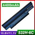 4400 мАч ноутбука черный аккумулятор для Acer UM09H31 UM09H36 UM09H41 UM09G31 UM09H56 для Aspire One 253 h AO532h NAV50 532 h 532 Г AO532G