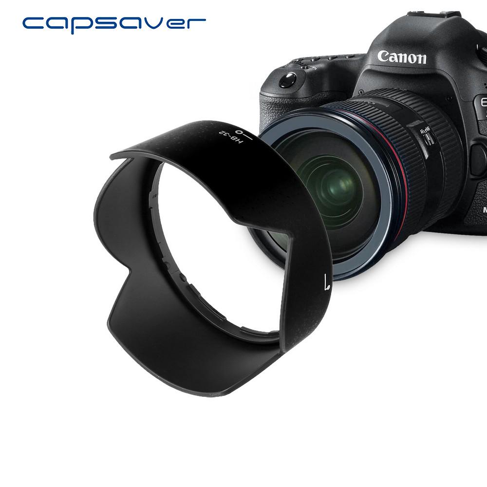 capsaver HB-32 Lens Hood for Nikon 18-105mm f/3.5-5.6G ED VR 18-70mm f/3.5-4.5G IF-ED Bayonet Petal Lens Protector for Nikon 3