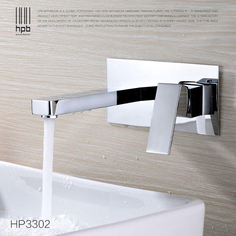 Hpb moderne unterputz wand waschbecken wasserhahn hei en und kalten wasser wand montiert - Wand wasserhahn ...