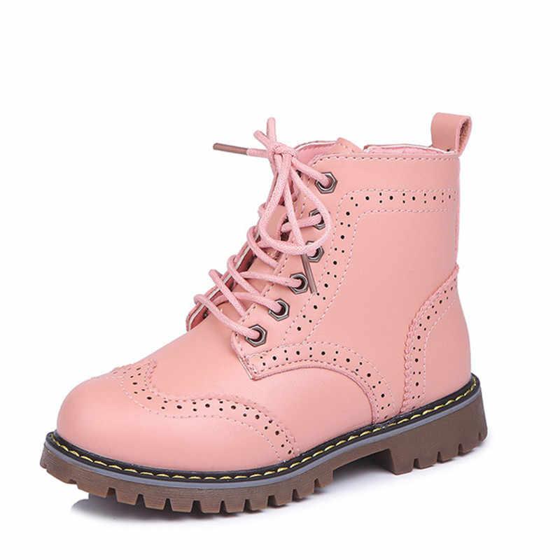 סתיו חורף ילדים של מגפיים שחור חלול להחליק צד רוכסן בני בנות שלג מגפיים חם גבוהה מגפי ילדי קצר אתחול חם נעל