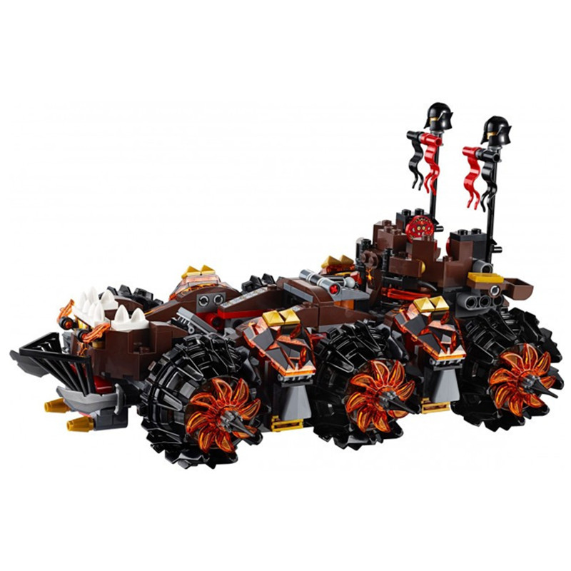 drop shipping Nexus Knights Siege Machine Model building kits compatible with lego city 3D blocks Educational children toys