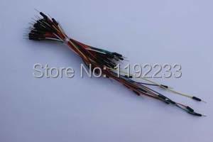 65pcs/Bundle Solderless Bread Board Jumper Wires Cables
