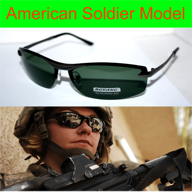 = = Clara vida marca de luxo eua soldado modelo de motorista reforçada polarizada tac polaroid uv 400 óculos de sol dos homens com espuma saco de caixa n