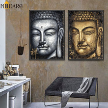 Budista Buda lienzo impresión cartel Arte India China Zen decoración pared cuadros para sala de estar decoración del hogar(China)