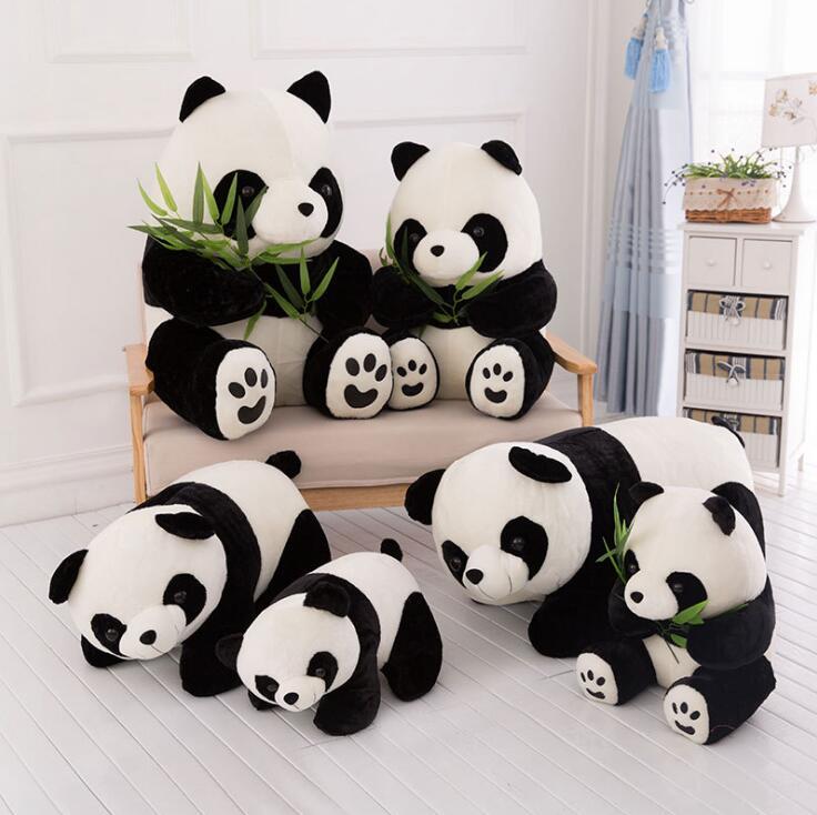 20Pcs lot Panda Doll Plush Baby Bear Pillow Panda Cloth Doll Kids Baby Birthday Gift For