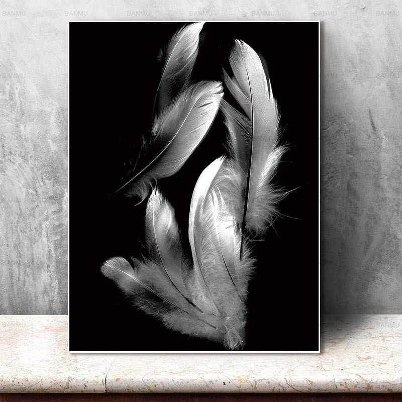 Art Wall pictures Feather canvas painting no frame decor poster art prints on canvas Wall Picture decoration for living room