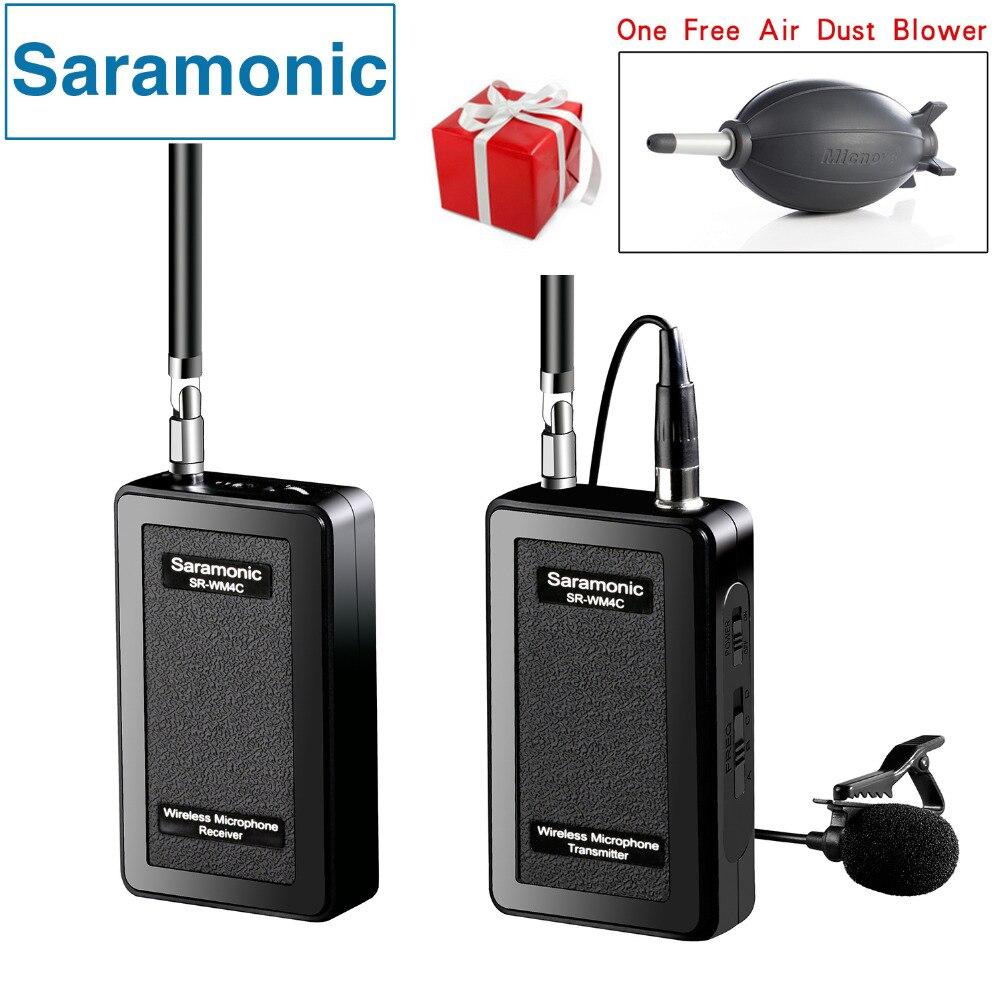 Saramonic SR-WM4C Cravate Sans Fil Microphone pour Canon Nikon Sony DSLR Caméras Panasonic Caméscope GoPro Hero 4 3 3 + Action