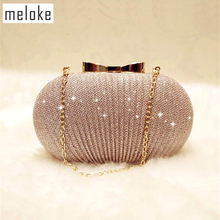 hot deal buy meloke 2018 bling evening bags luxury folds banquet bags sequin wedding dinner bags for girls party dinner bags mn930