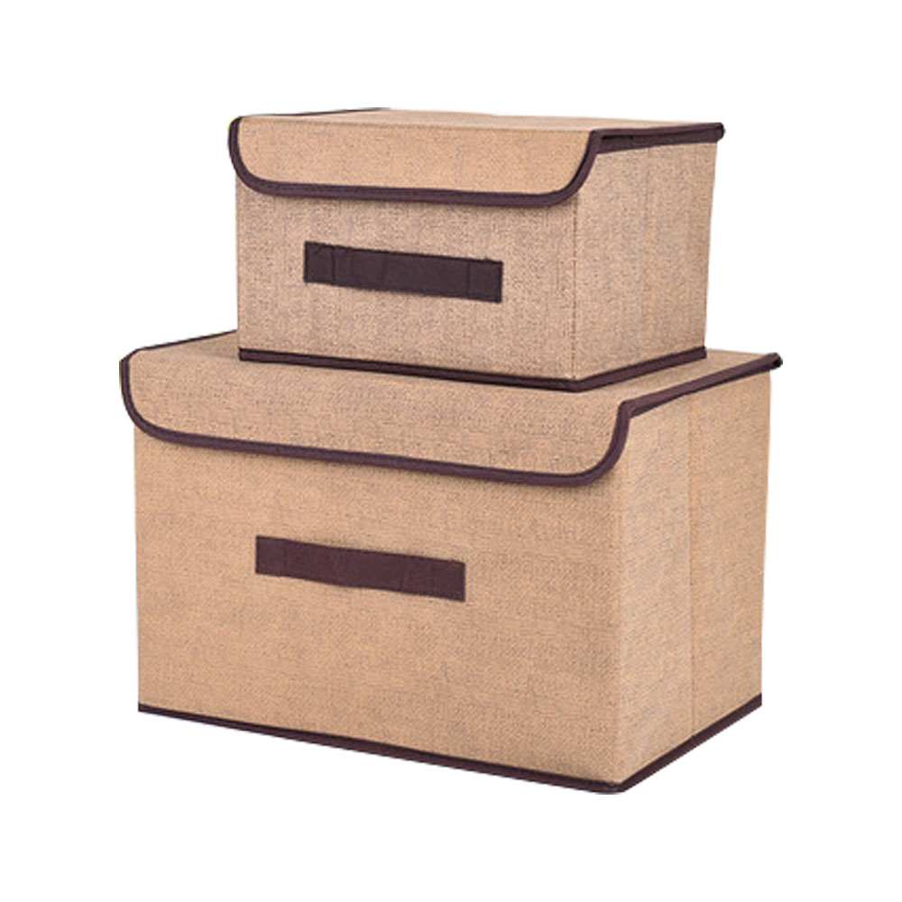 2Pc/Set Office And Home Non Woven Fabric Storage Box With Lids Large  Foldable Storage Box Bins For Organizer Clothes Debris In Storage Boxes U0026  Bins From ...