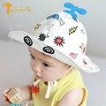 Twinsbella 2017 nueva manera caliente infantil del niño sombreros de sun cap polka verano al aire libre pequeño avión baby boy sombreros de cubo de playa sombrero
