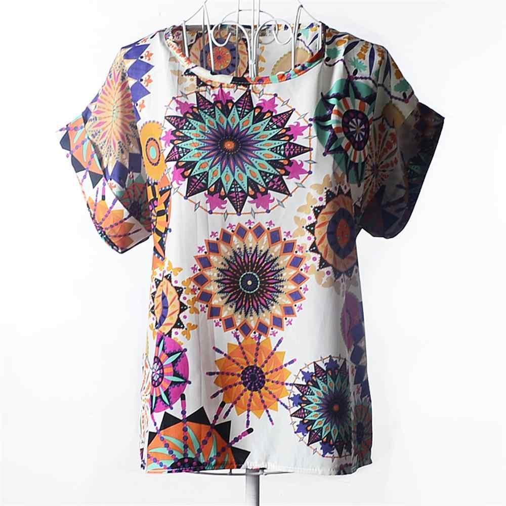 חדש 2019 נשים מכירה לוהטת נקודה רופפת מודפס שיפון חולצות סתיו-קיץ דוט/לב