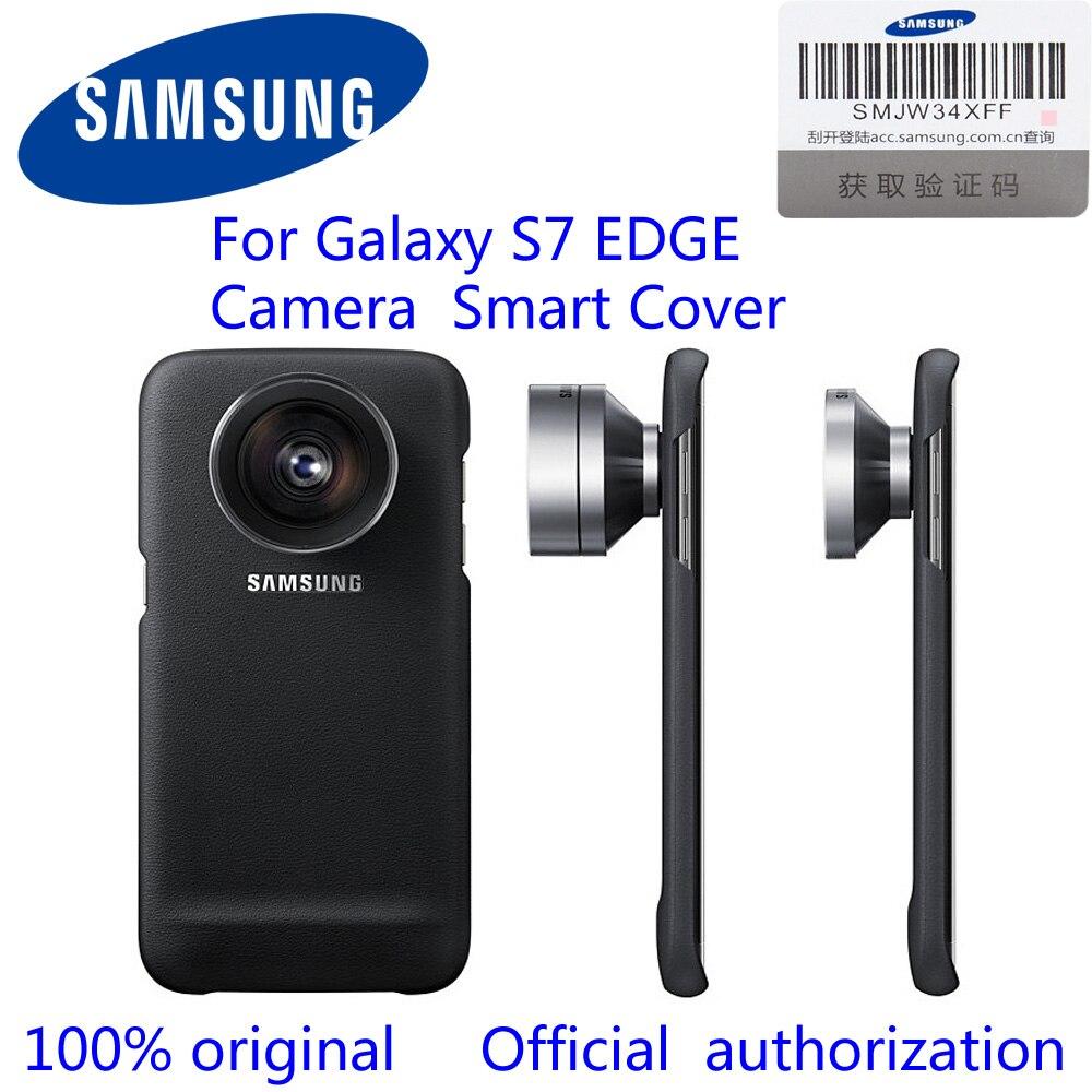 100% d'origine Samsung S7 Bord Universele Caméra Telefoon Lenzen Smart Cover Race Macro Fisheye Caméra Lentille Cas Pour G9350