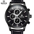 SKONE Chronograph Sport Watch Men Luxury Brand Shock Genuine Leather orologi horloges mannen montre homme Relogio Masculino