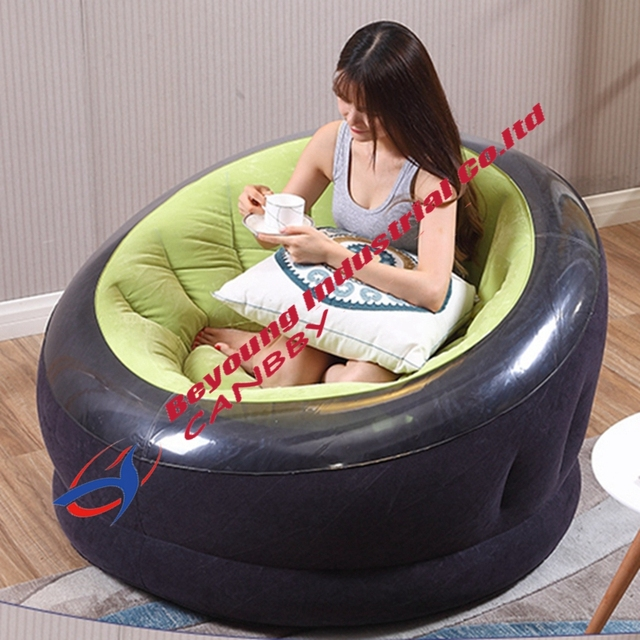 Green Intex Empire Chair Outdoor Inflatable Round Sofa ...