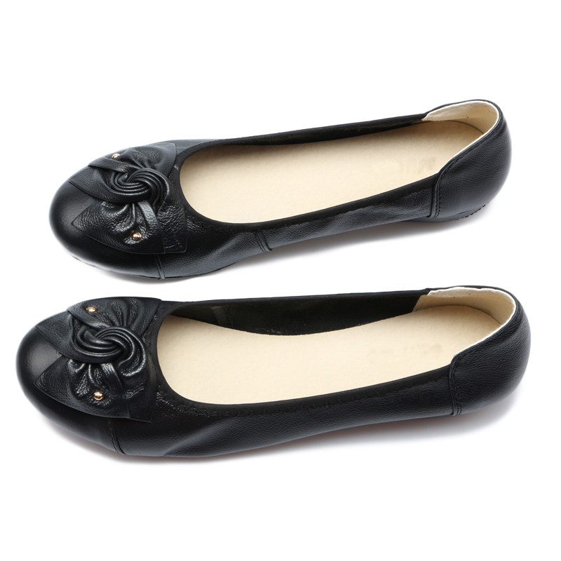 2017-Hot-Genuine-Leather-Shoes-Women-Butterfly-knot-Loafers-Women-Flats-Ballet-Autumn-Winter-Casual-Flat (4)