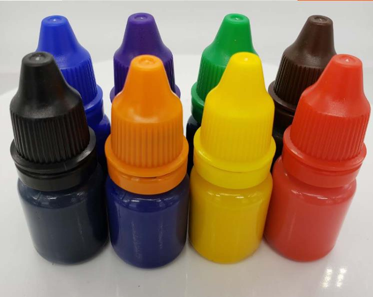 10ml Self Inking Colorful Ink for Photosensitive stamp refilling ink red green blue black orange pink Chocolate coffee white|Stamps|Home & Garden - title=