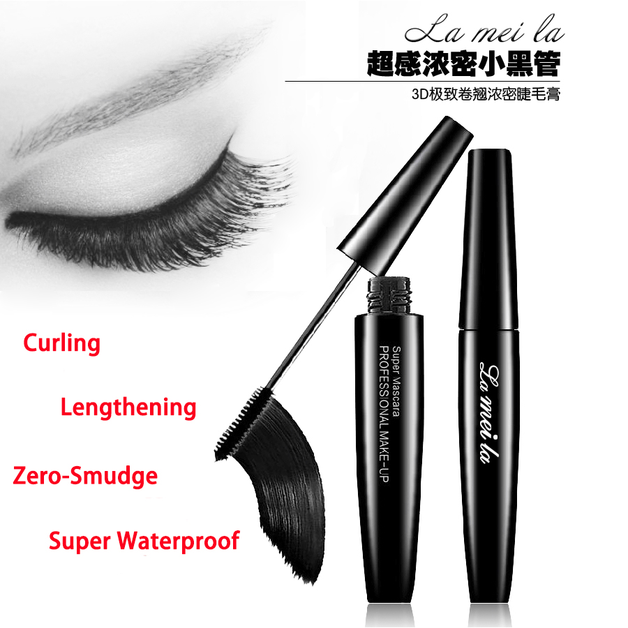 3D Curling Thick Lengthening Mascara Eyelash Black Mascara Waterproof Volume Eye Makeup 8g