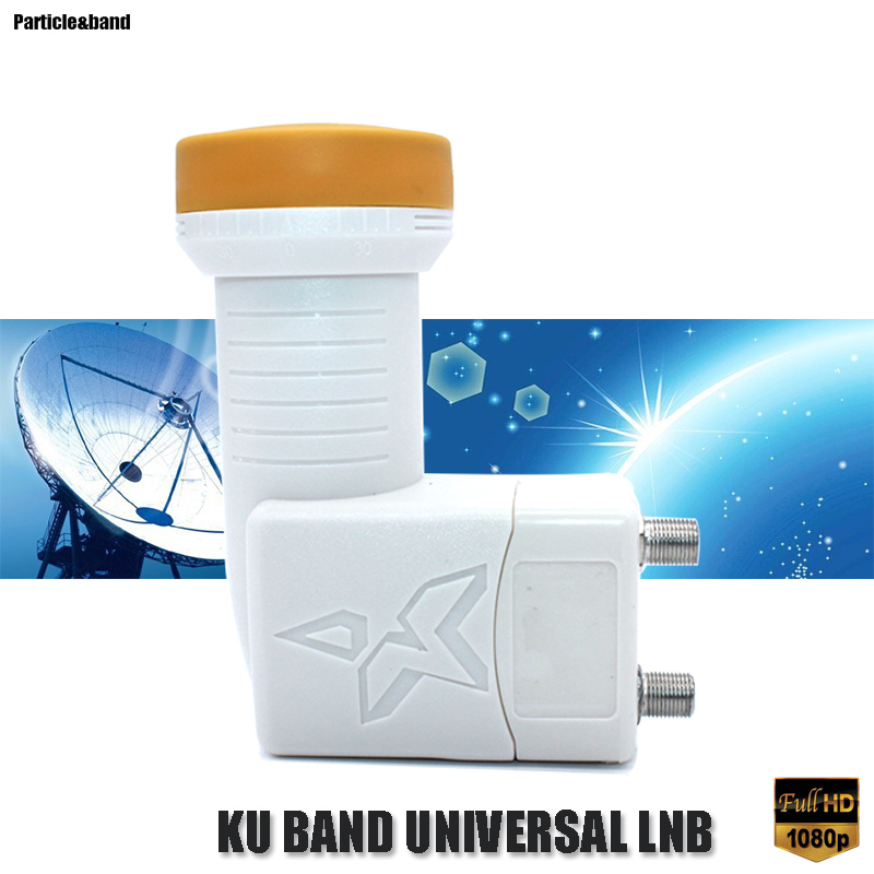 Universal Ku Band Twin LNB For Satellite TV Receiver Low Noise 0.1db High Quality HD Digital Satellite 2 Output LNBF