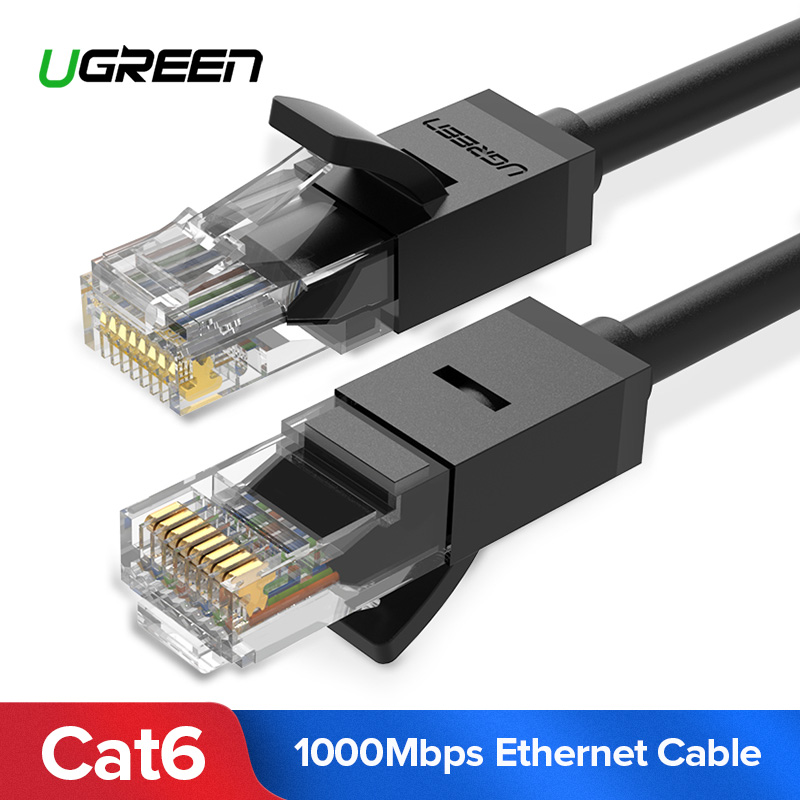 Ugreen Ethernet Cable Cat6 Lan Cable UTP CAT 6 RJ 45 Network Cable 10m/50m/100m Patch Cord for Laptop Router RJ45 Network Cable цена