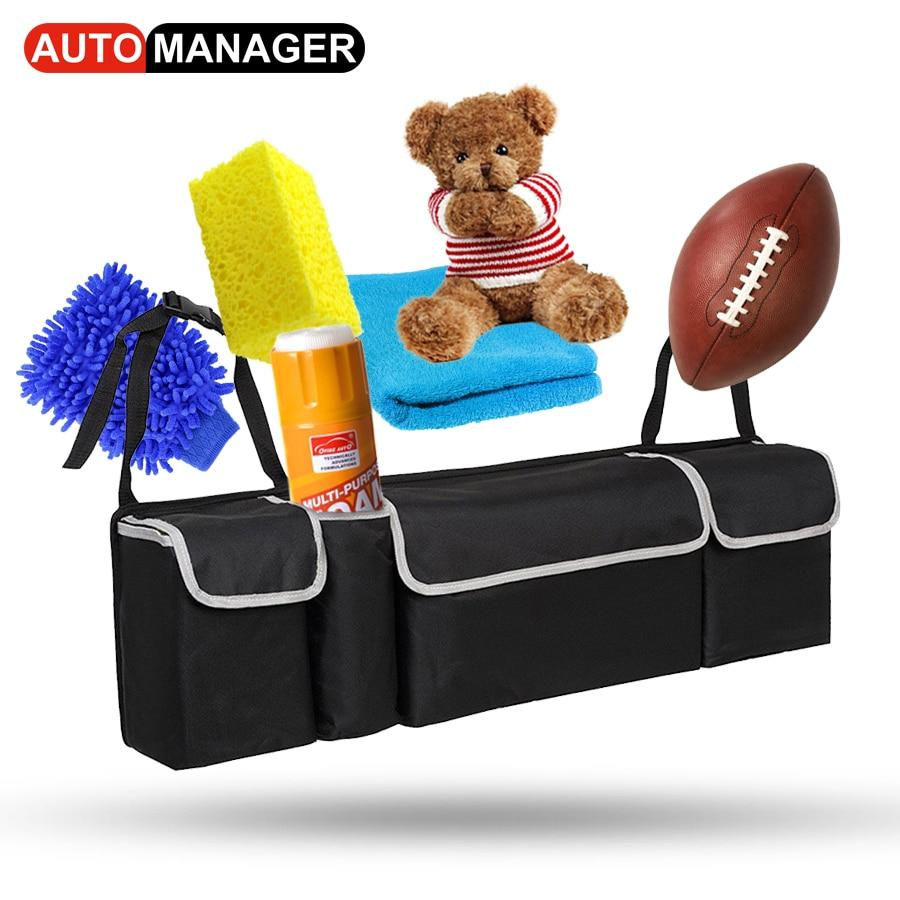 Car Trunk Backseat Organizer Storage Bag Oxford Cloth High Capacity 2in1 Auto Seat Back Organizers Interior Accessories цены