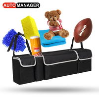 Car Trunk Backseat Organizer Storage Bag Oxford Cloth High Capacity 2in1 Auto Seat Back Organizers Interior Accessories
