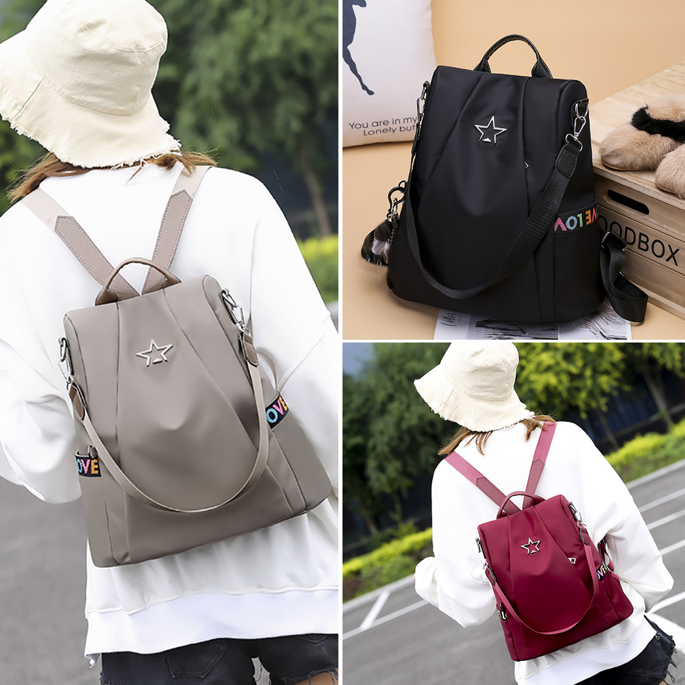 HTB1b7 GMhnaK1RjSZFtq6zC2VXa9 Masion Fabre Shoulder Bag Anti-theft Backpack Bag Personality Wild Oxford Cloth Small Backpack Bags For Women Mochila Feminina