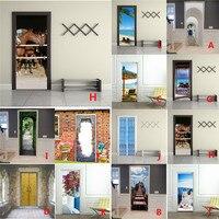 3D Arte de La Moda Ventana de La Puerta Decal Grande Pegatinas de Pared Home Decor Poster 30RH25 Escena Al Por Mayor Envío Gratuito